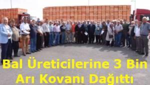 Tekirdağ Büyükşehir Belediyesi Bal Üreticilerine 3 Bin Arı Kovanı Dağıttı