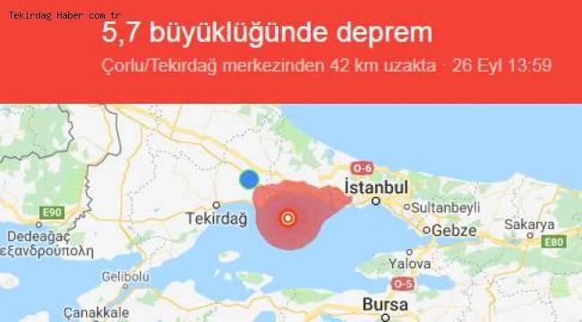 Tekirdağ'da Deprem Son Dakika 2019 Haberleri