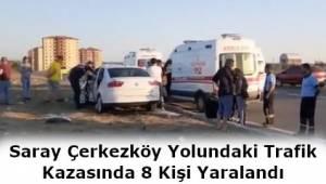 Tekirdağ'da Trafik Kazasında 8 Kişi Yaralandı!