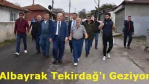 Tekirdağ Başkanı Kadir Albayrak Tekirdağ İlçelerinden Çorlu'daydı