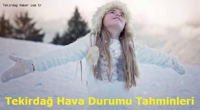Tekirdağ'da Kar Yağışı Ne Zaman 2019 ve 2020 Son Dakika Tekirdağ Hava Durumu Tahminleri