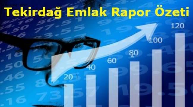 Tekirdağ En Son Emlak İlanları ve Fiyatları Nedir? Tekirdağ Emlak Raporu Özeti!
