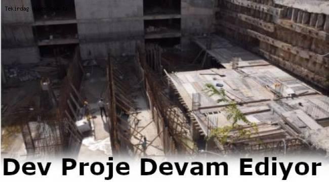 Tekirdağ Hayrabolu Katlı Yeraltı Otoparkı ve Meydan Düzenleme Projesi'nde Son Durum