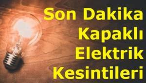 Tekirdağ Kapaklı Pazar Günü Elektrik Kesintisi Yaklaşık 10 Saat Sürecek