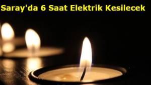 Tekirdağ Saray İlçesi Elektrik Kesintileri TREDAŞ Duyurusu