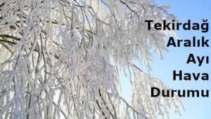 Tekirdağ 6 Günlük Hava Durumu 23 Aralık/28 Aralık