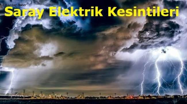 TekirdağSaray Güncel Elektrik Kesintisi 25 Şubat 2020 Duyuruları