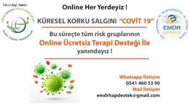 Tekirdağ'da Gönüllü Terapistlerden Online Destek