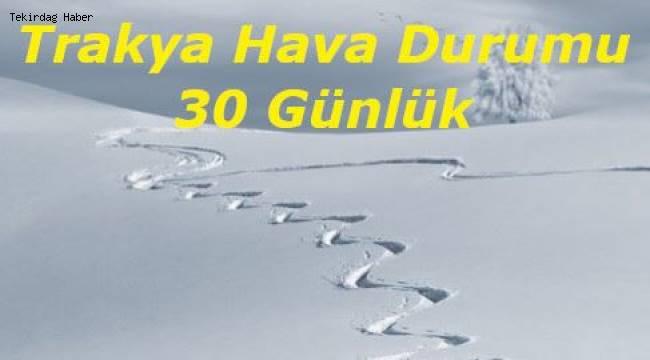 Tekirdağ'a Kar Ne Zaman Yağacak 2020 Kasım Ayı 30 Günlük Hava Durumu