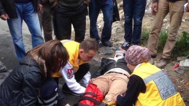 Çorlu'da Motosiklet Kazası 1 Yaralı