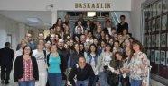 Avrupa Birliğine Zamanda Yolculuk' Projesi Öğrencileri Başkan Albayrak'ı Ziyaret Etti