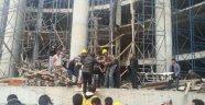 Devlet Hastanesi İnşaatında İskele Çöktü: 3 Yaralı