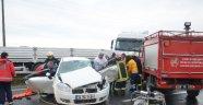 Ergene'de Otomobil ile Tır Çarpıştı: 2 Yaralı