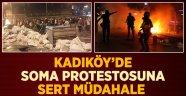 Kadıköy'de Soma Protestosuna Polis Müdahalesi
