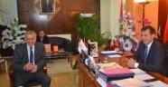 MHP Çerkezköy Eski Başkanı Mustafa Ordu Başkan Akay'ı Ziyaret Etti