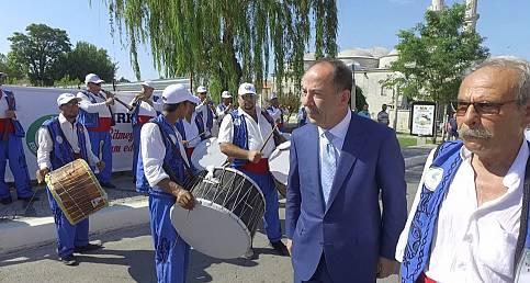 DAVUL ZURNA EKİBİ BAŞKAN GÜRKAN'I KARŞILADI