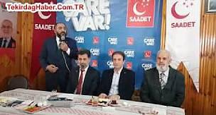 Saadet Partisi Çerkezköy Belediye Başkan Adayı Erol Kaya Konuşması